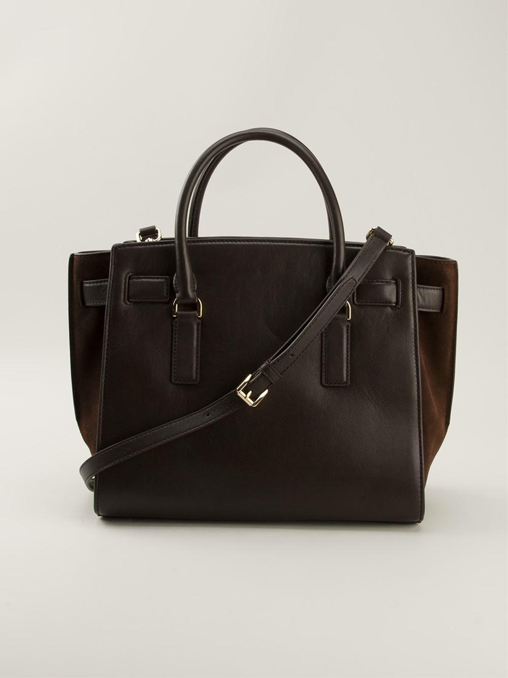 michael michael kors 39 hamilton traveler 39 medium satchel in. Black Bedroom Furniture Sets. Home Design Ideas