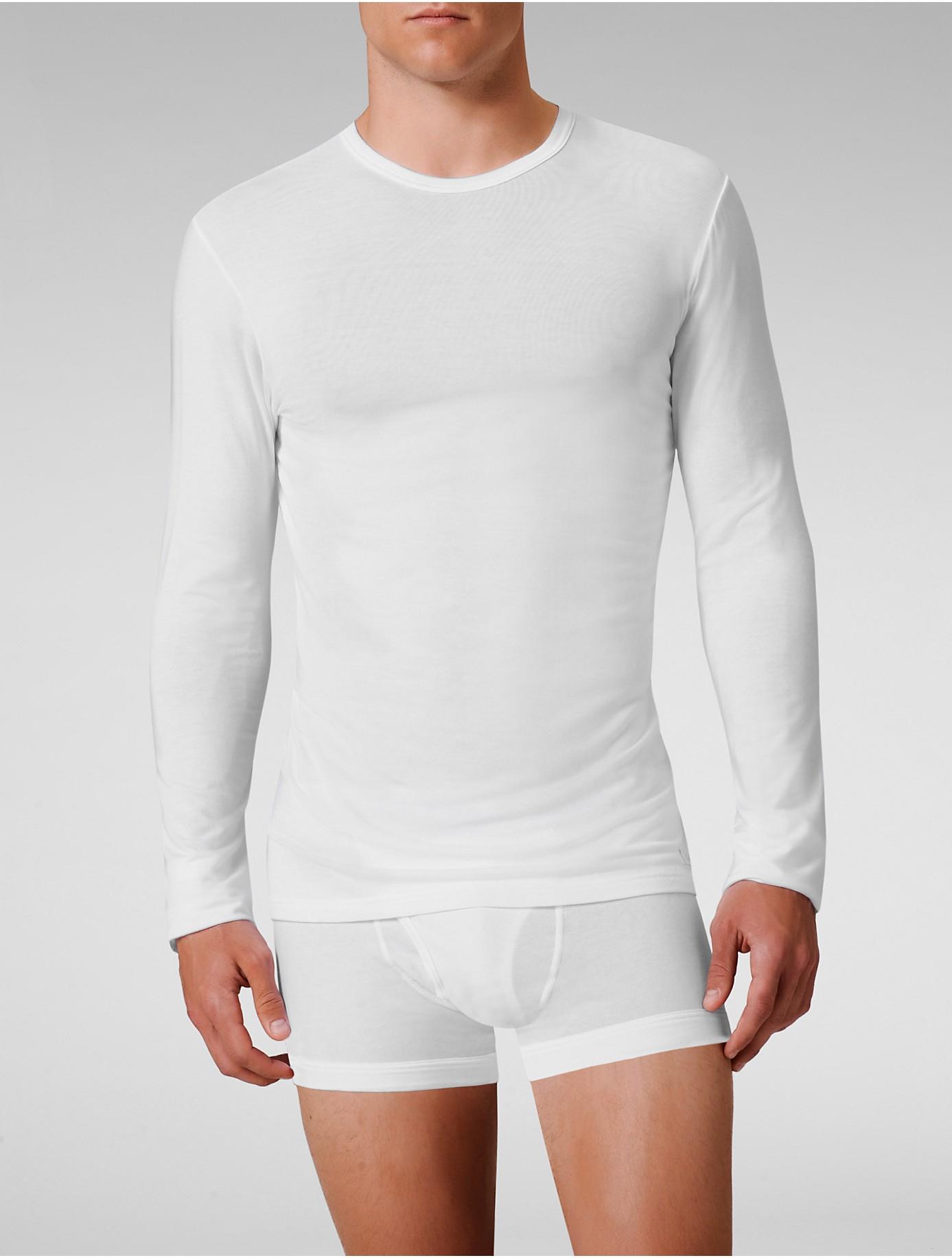 calvin klein underwear micro modal long sleeve crew in. Black Bedroom Furniture Sets. Home Design Ideas