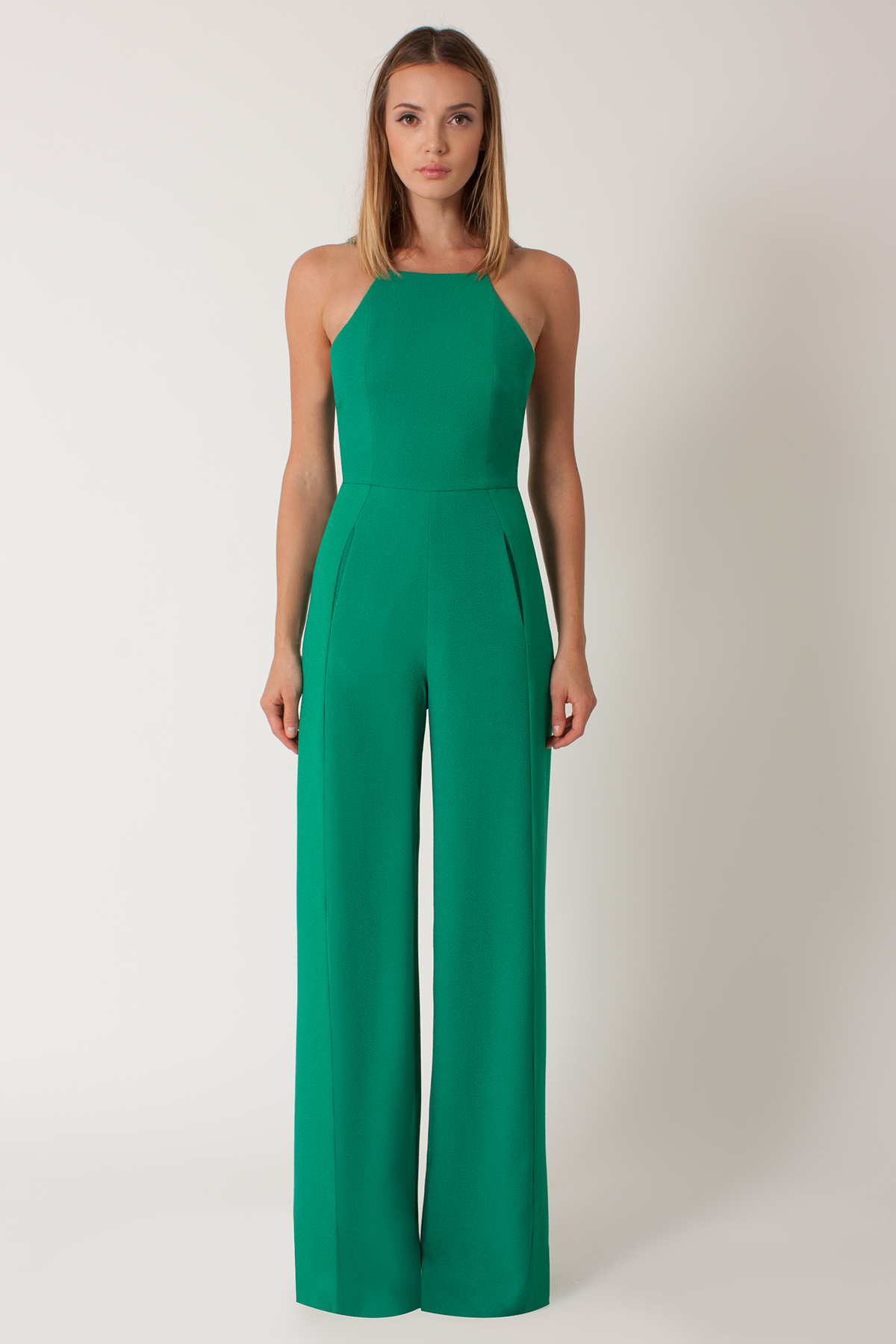 Black halo Joaquin Crepe Jumpsuit in Green | Lyst