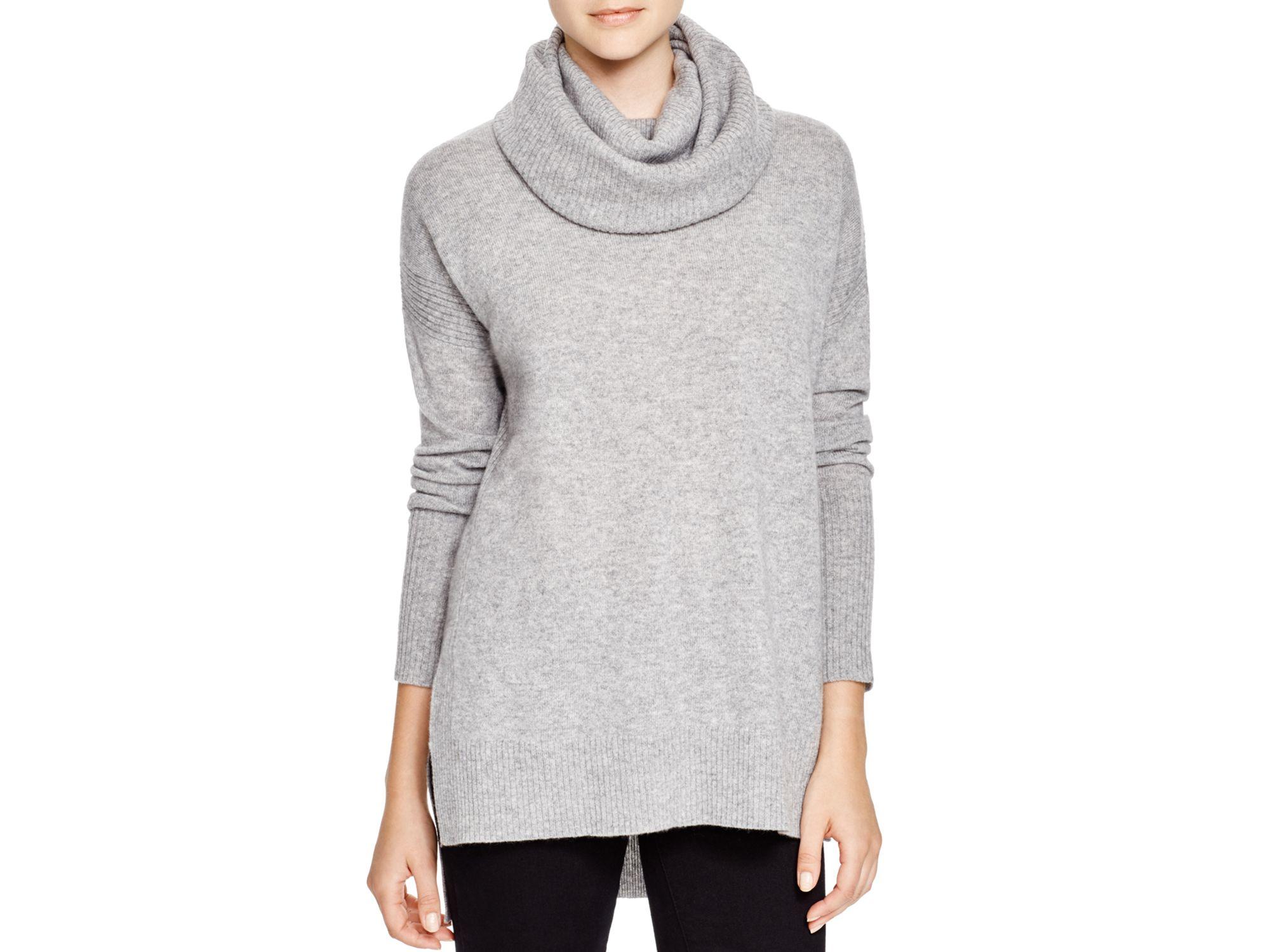 Diane von furstenberg Ahiga Cashmere Turtleneck Sweater in Gray | Lyst
