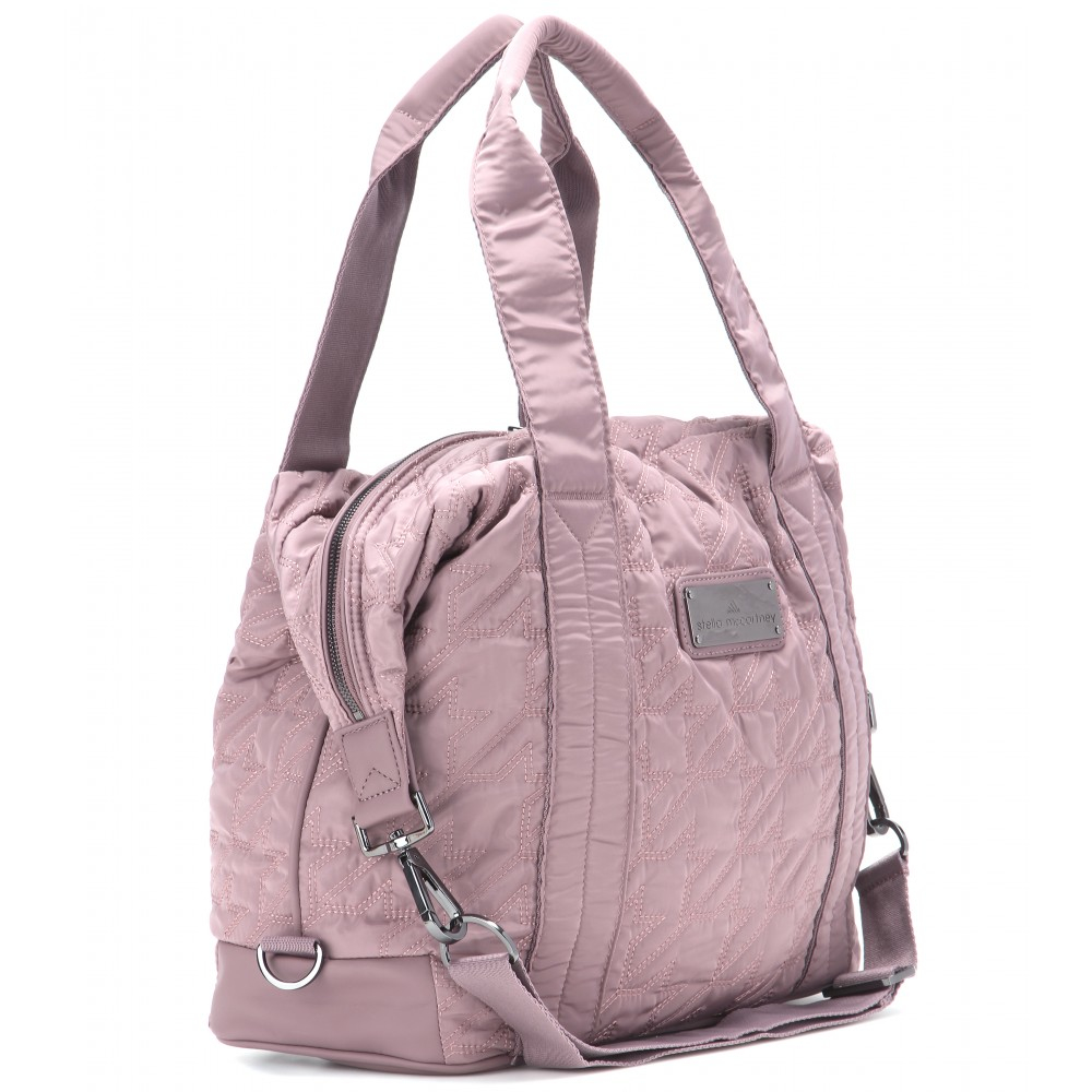 Lyst - adidas By Stella McCartney Quilted Gym Bag in Pink 2ed5f373e319d