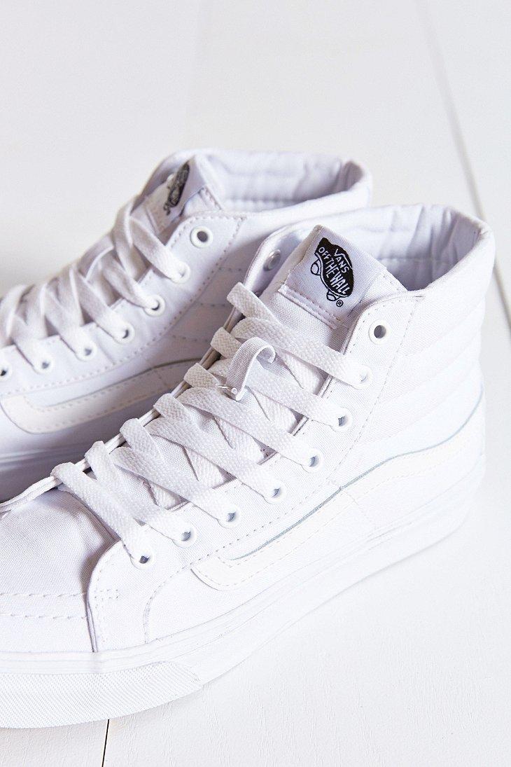 vans sk8 hi slim sneaker in white lyst. Black Bedroom Furniture Sets. Home Design Ideas