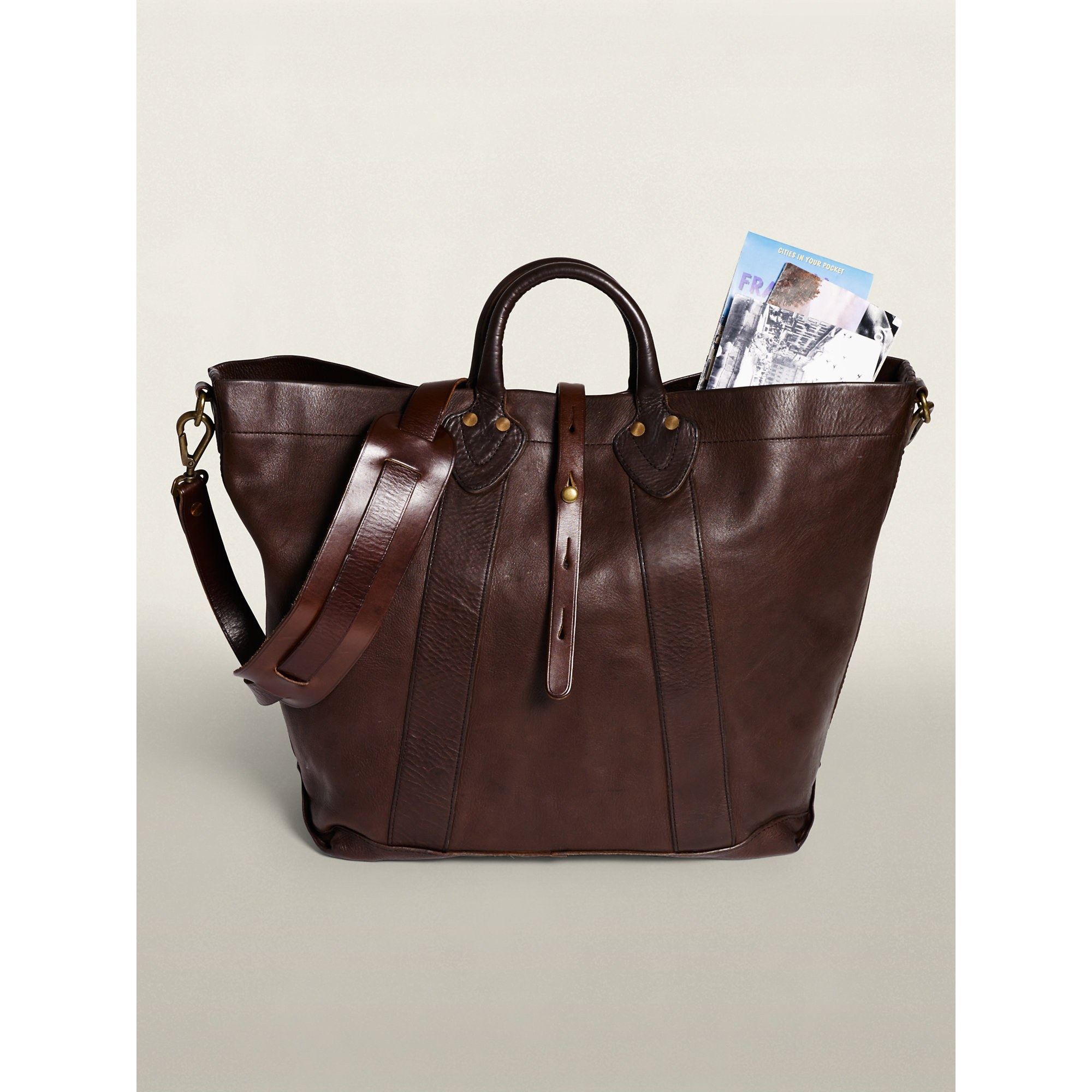 6a1c3850c0 Lyst - RRL Vintage Leather Tote in Brown for Men