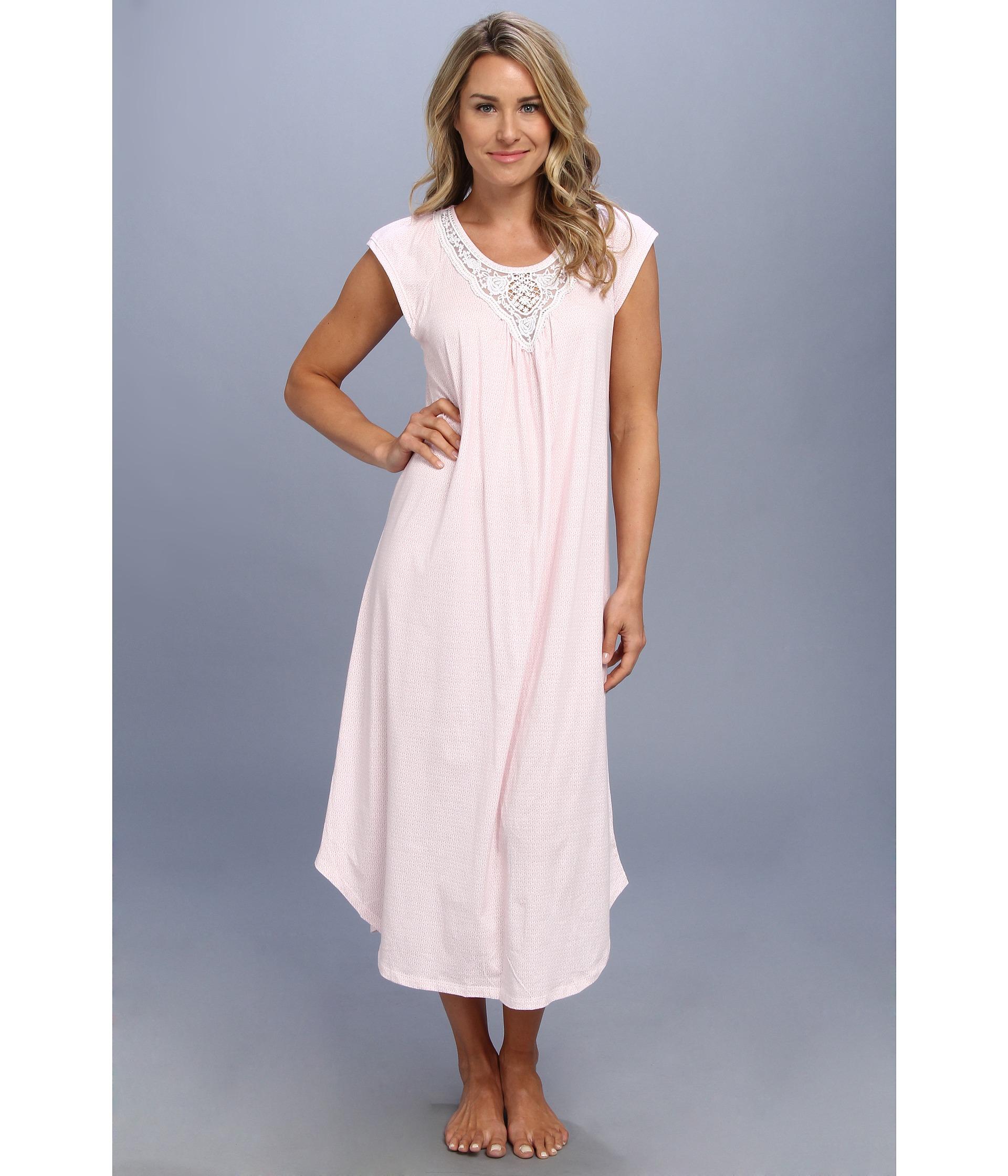 0a60145efc Lyst - Carole Hochman Long Nightgown in Pink