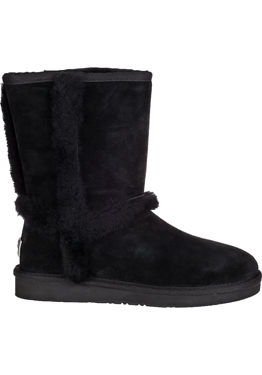 ugg ankle boot black suede in black lyst