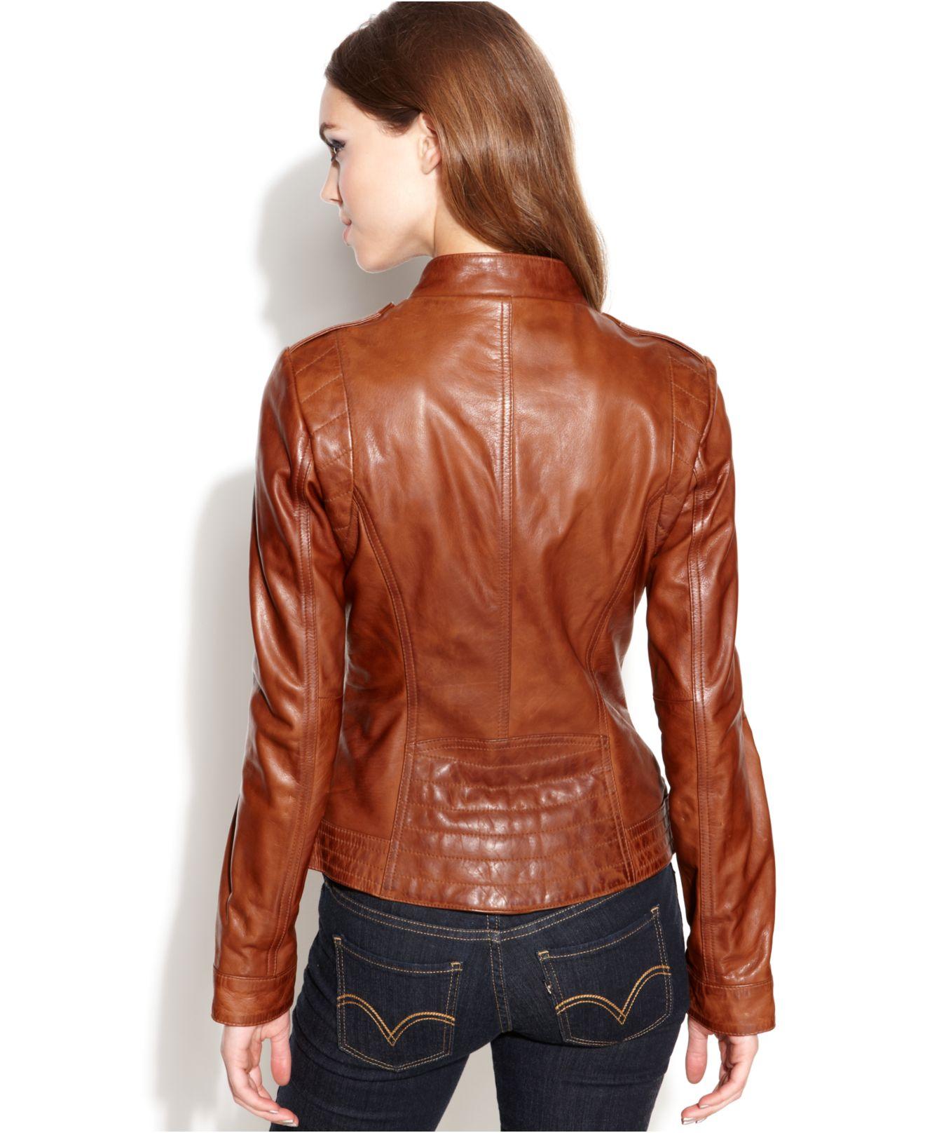 745b2f22801da Guess Asymmetrical Zip Front Leather Jacket - Cairoamani.com