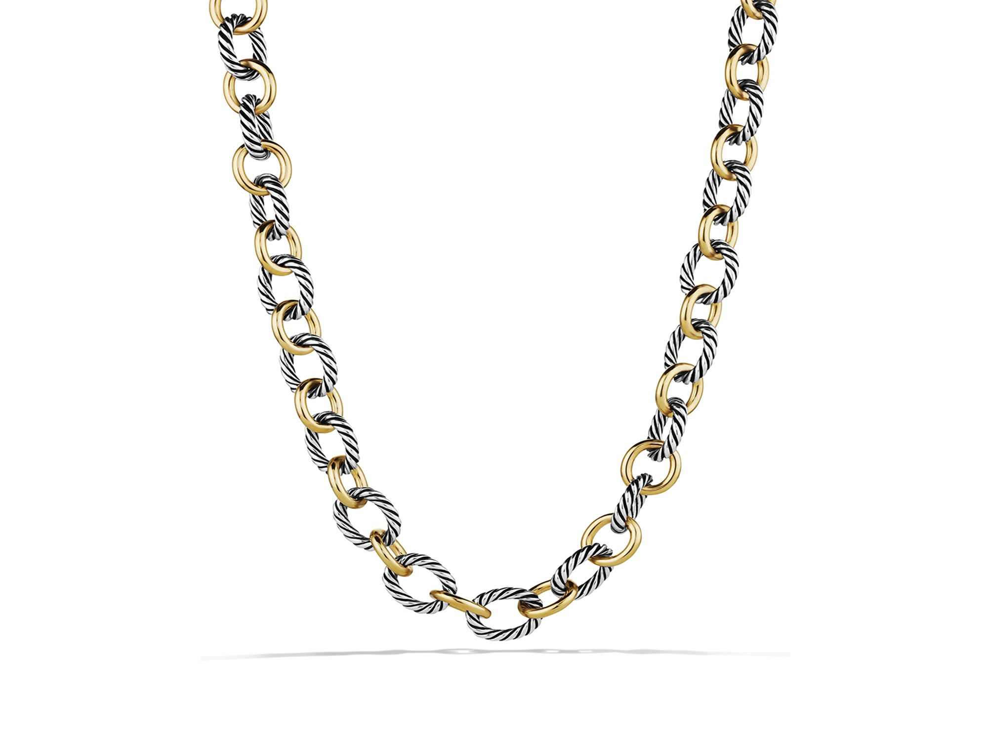 david yurman oval large link necklace with gold 18 25 quot in