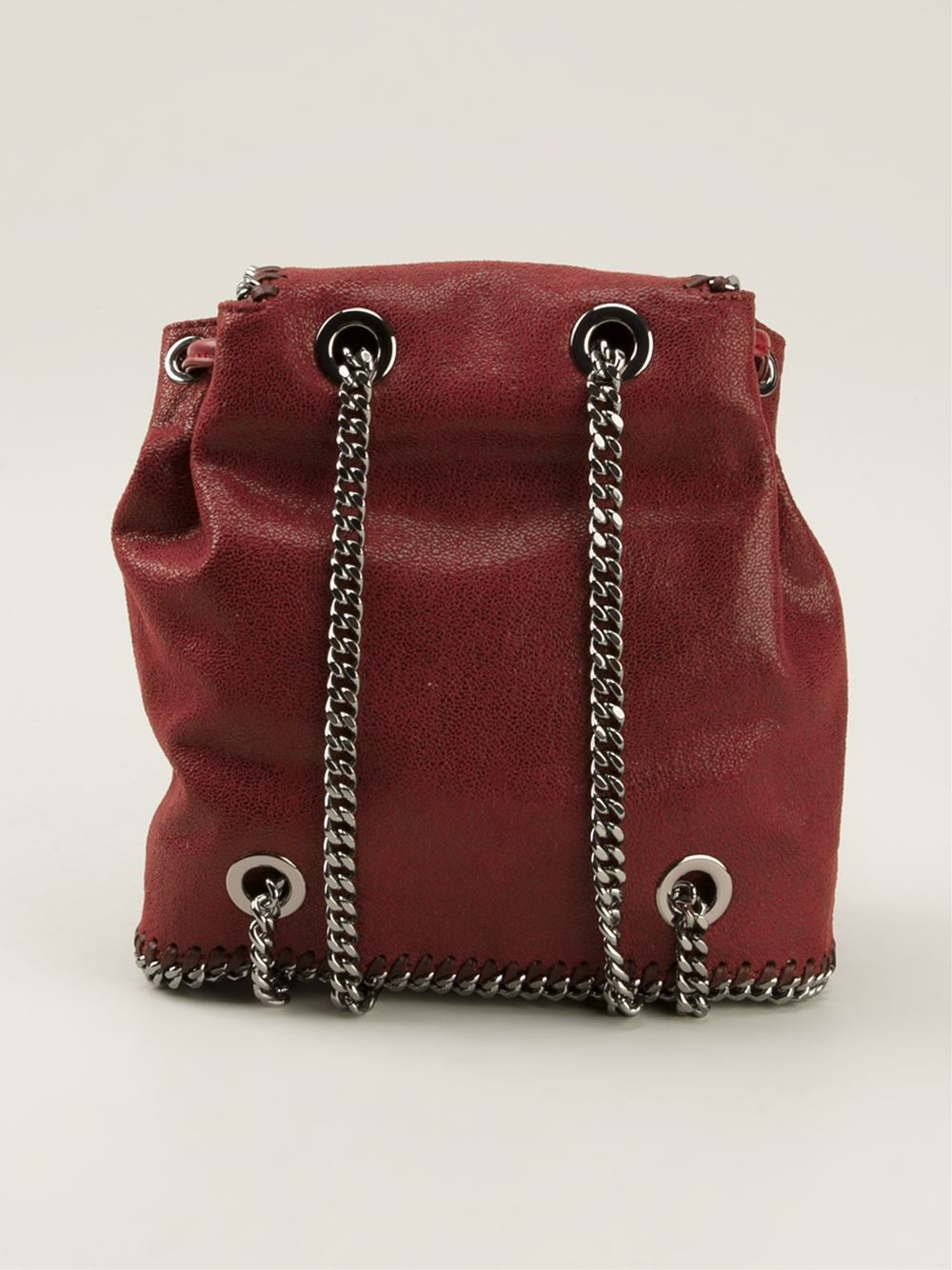 stella mccartney falabella backpack in red lyst. Black Bedroom Furniture Sets. Home Design Ideas