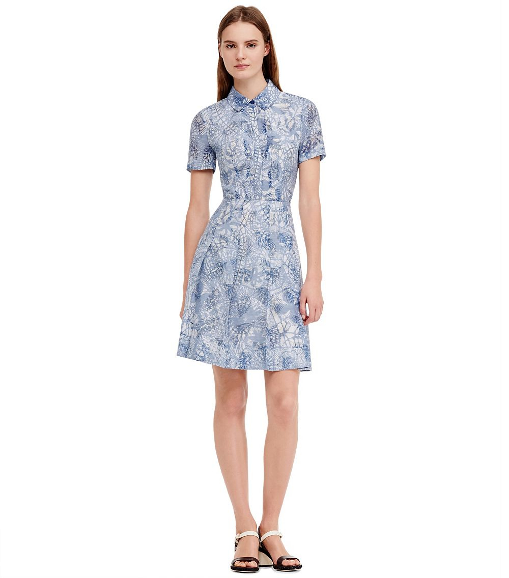 Lyst - Tory Burch Textured Dress In Blue