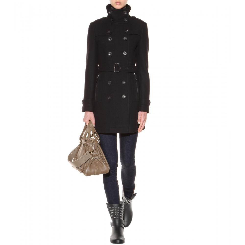 Lyst Burberry Brit Holloways Embellished Rain Boots In Black