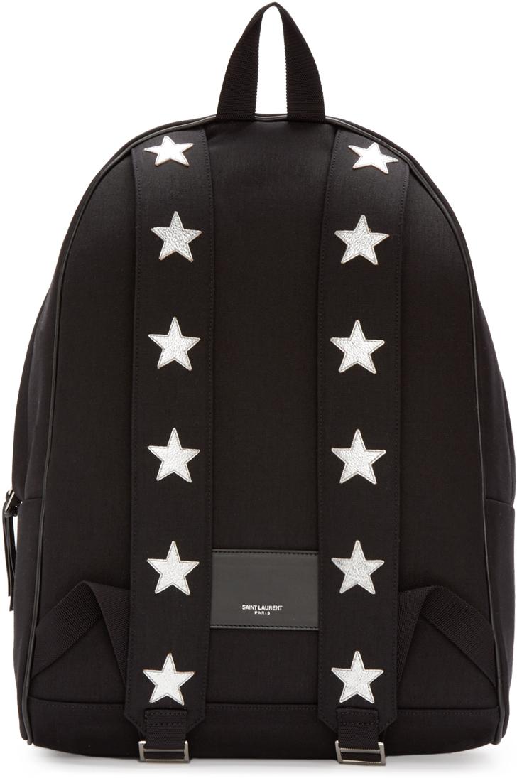 Lyst Saint Lau Black Canvas Stars Hunting Backpack In e7e0ebe848f95