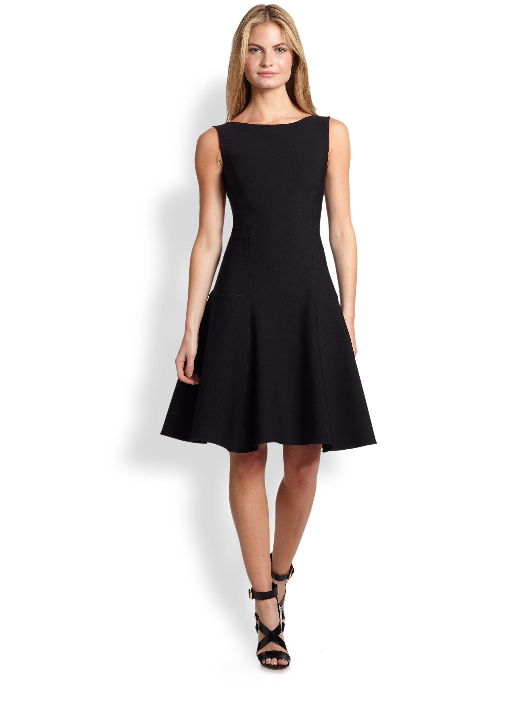 Lyst - Ralph Lauren Black Label Neoprene Rayner Dress in Black