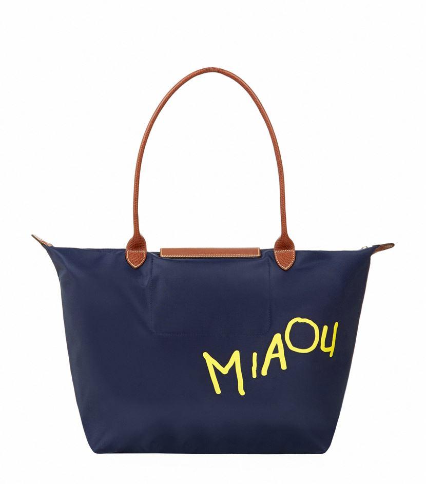 c4461f78eb9 Longchamp Le Pliage Miaou Large Shoulder Bag in Blue - Lyst