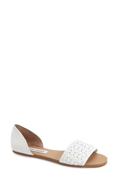 steve madden taylerr sandals in white lyst