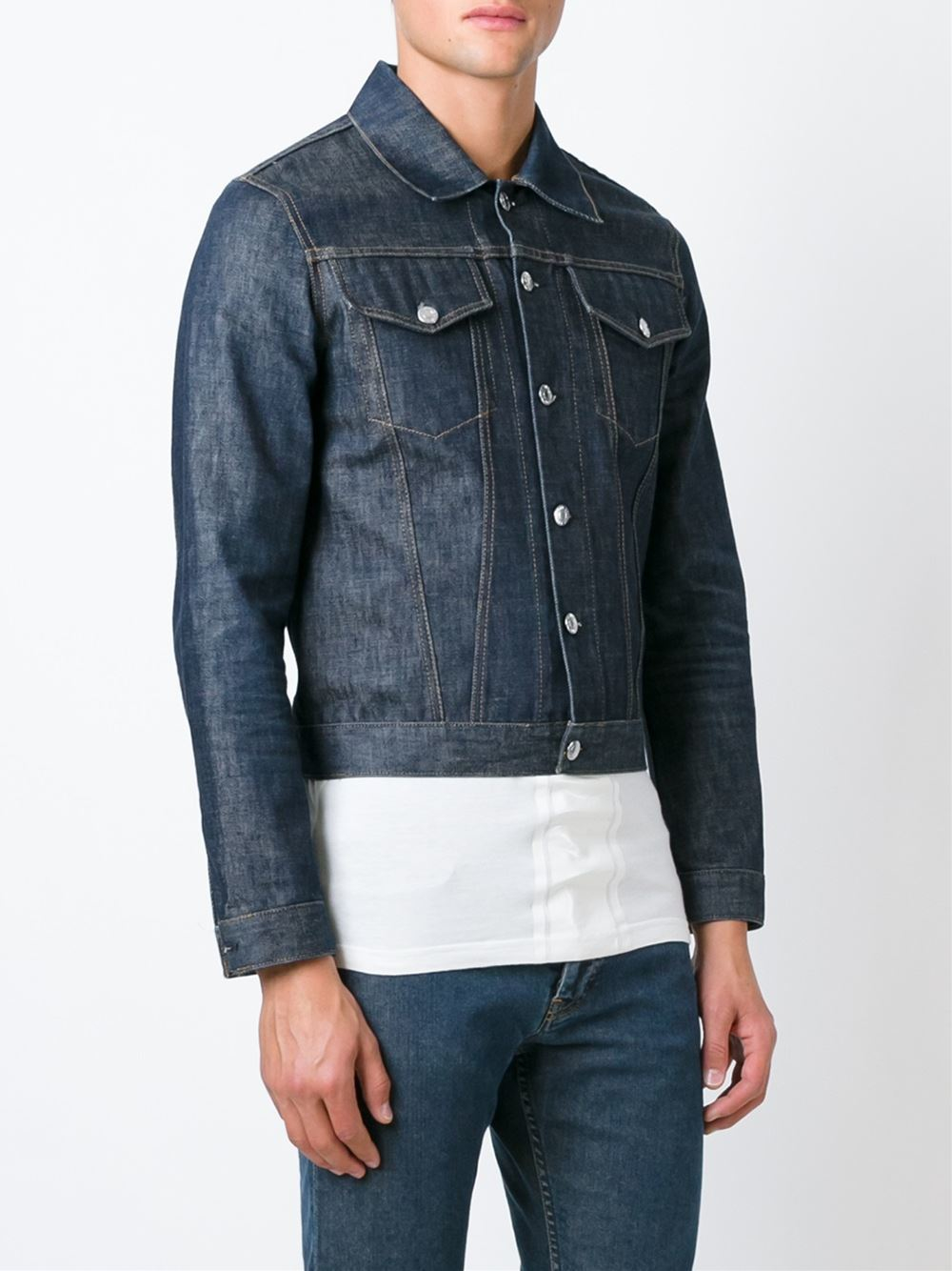 Helmut lang Classic Denim Jacket in Blue for Men | Lyst