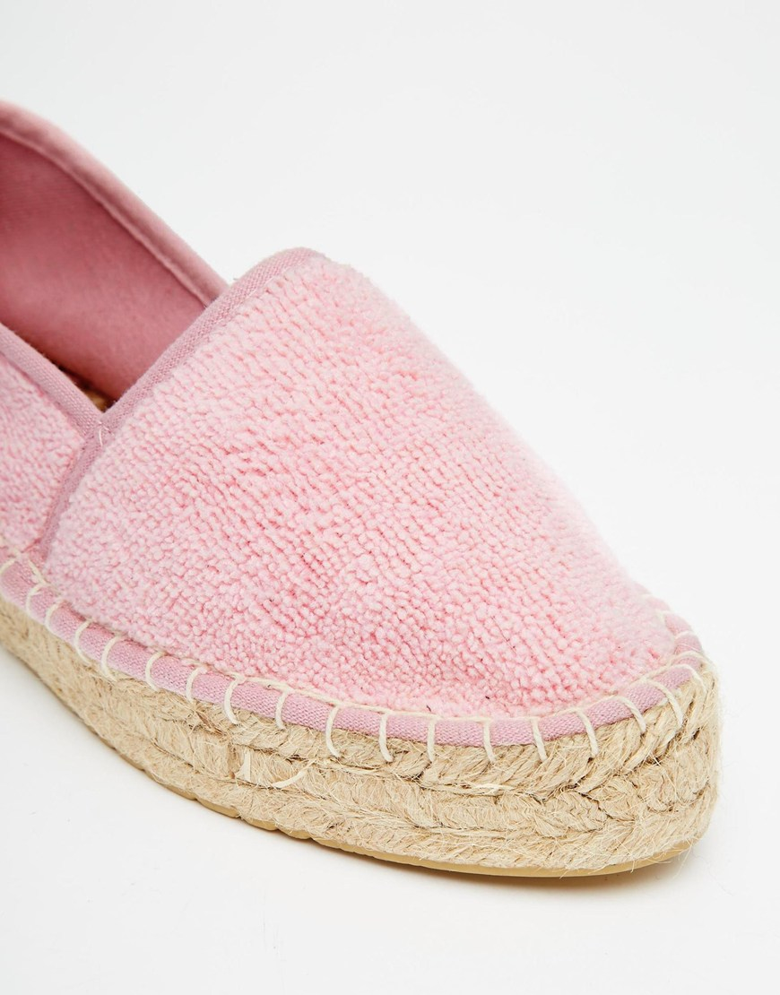 Lyst Asos Jelly Bean Towelling Espadrilles In Pink