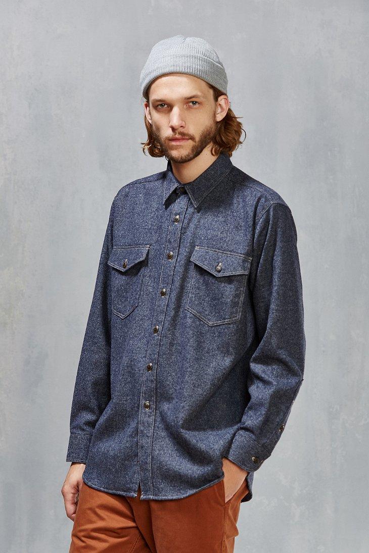 Lyst Pendleton Wool Denim Shirt In Blue For Men