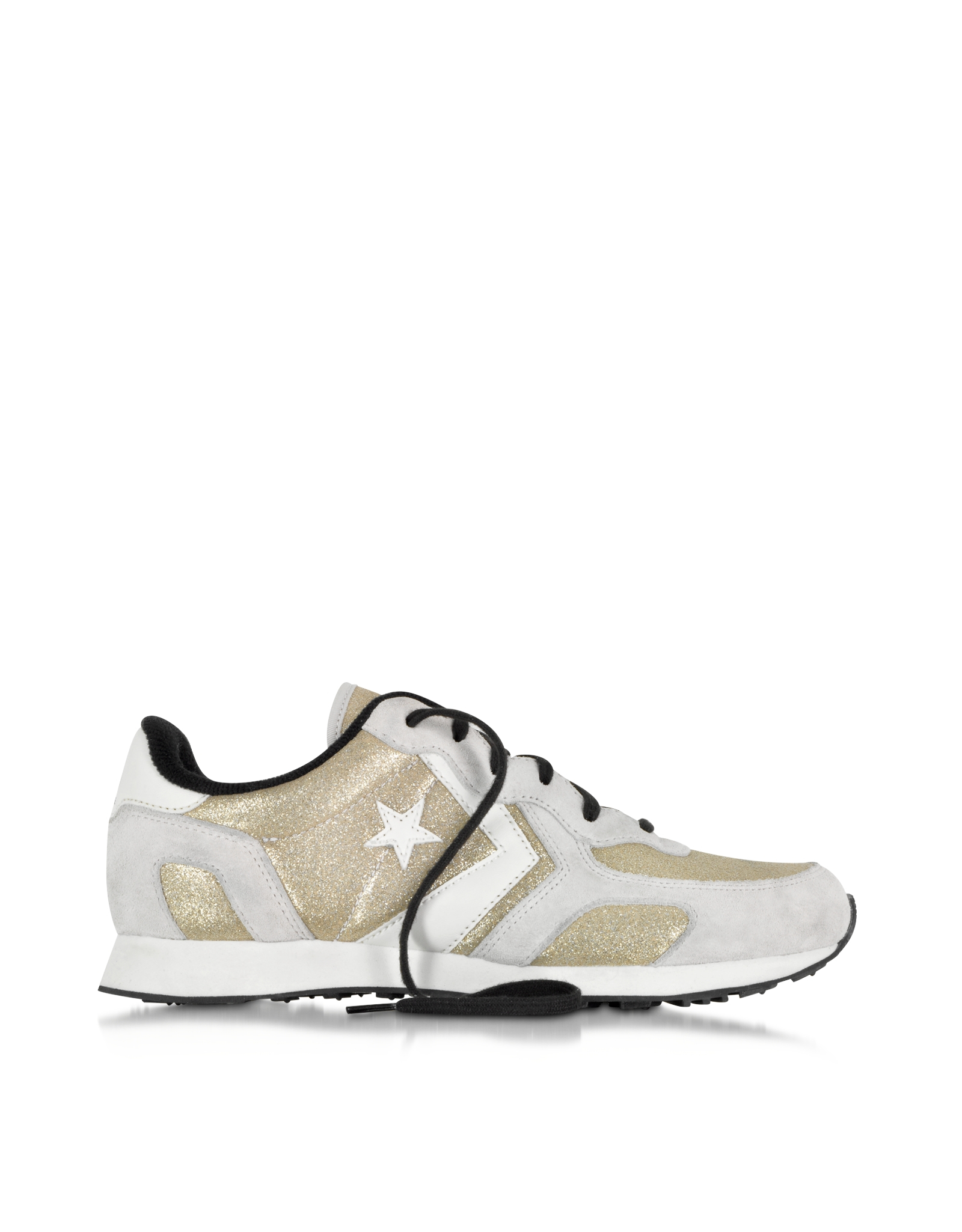 6a1d614cc97e46 Lyst - Converse Auckland Racer Ox Gold Glam Fabric And Suede Sneaker ...