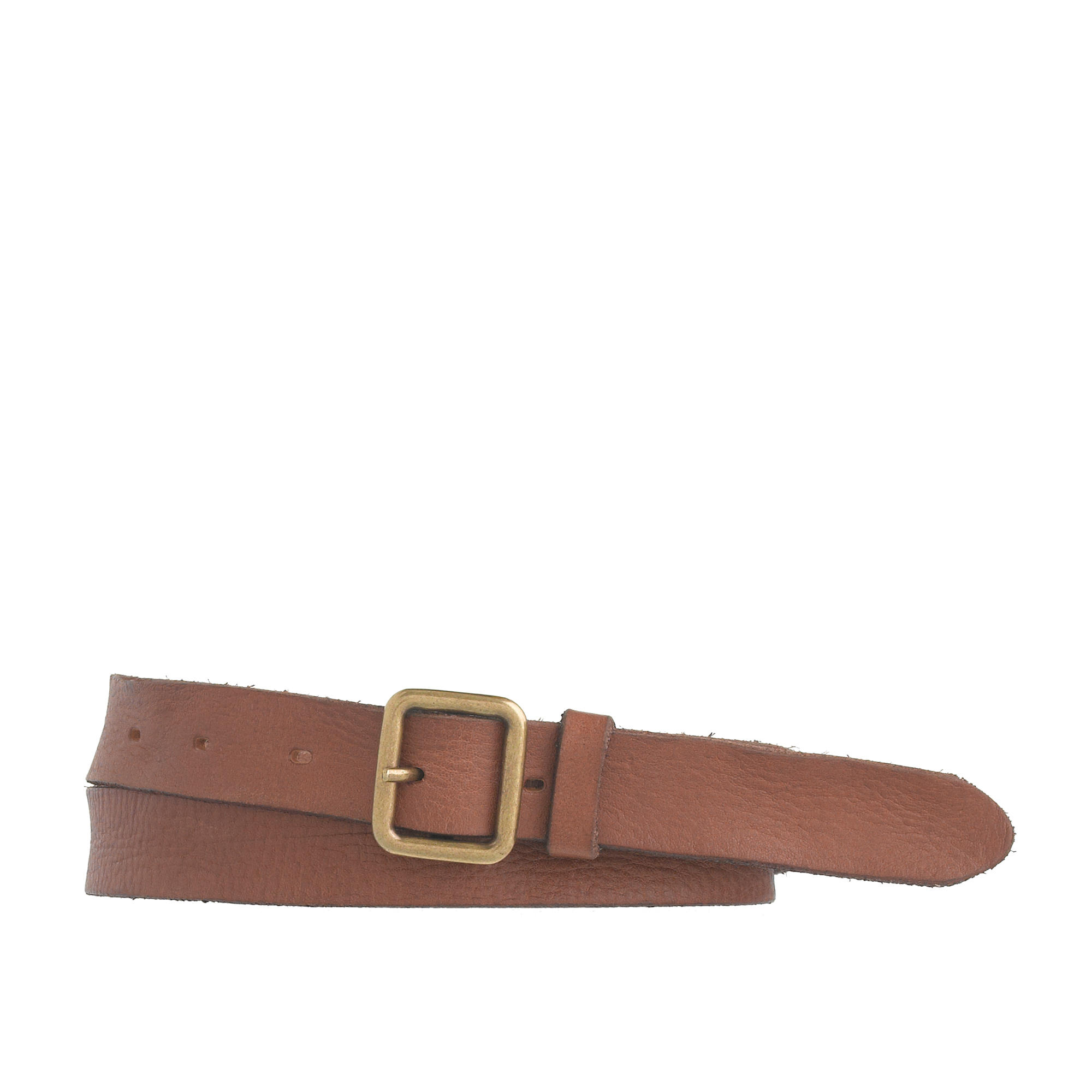 j crew distressed leather belt in brown lyst