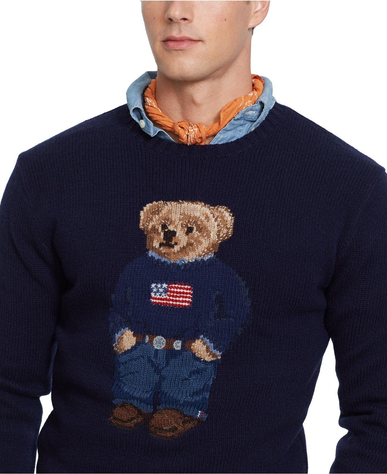 dbb13101b Lyst - Polo Ralph Lauren Polo Bear Wool Sweater in Blue for Men