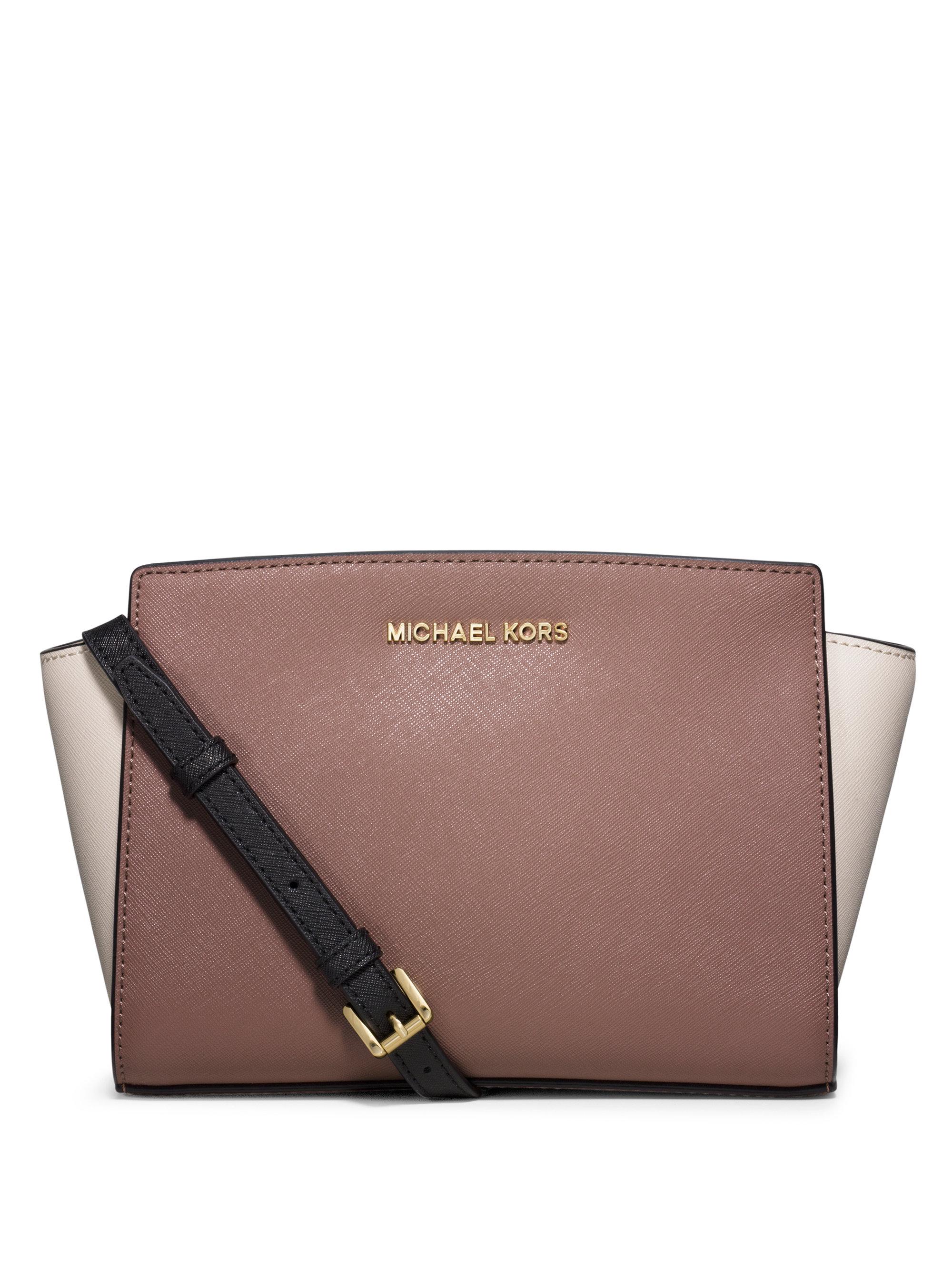 26da980c9121 ... wholesale lyst michael michael kors selma medium messenger bag in brown  34e33 f1128