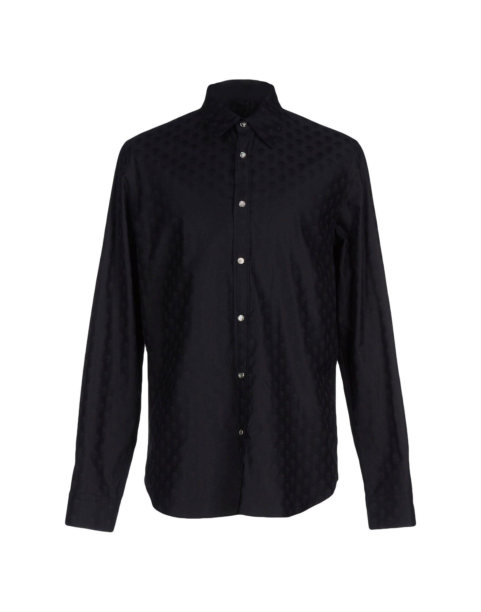 Lyst alexander mcqueen shirt in black for men for Alexander mcqueen shirt men