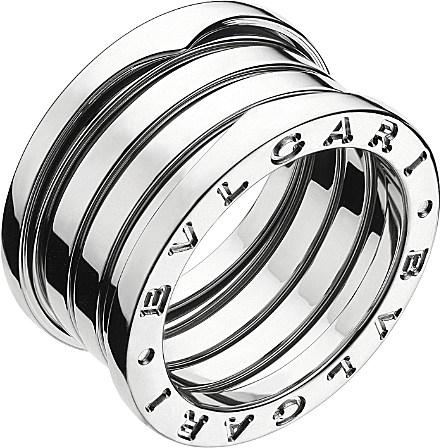 bvlgari b zero1 four band stainless steel ring for