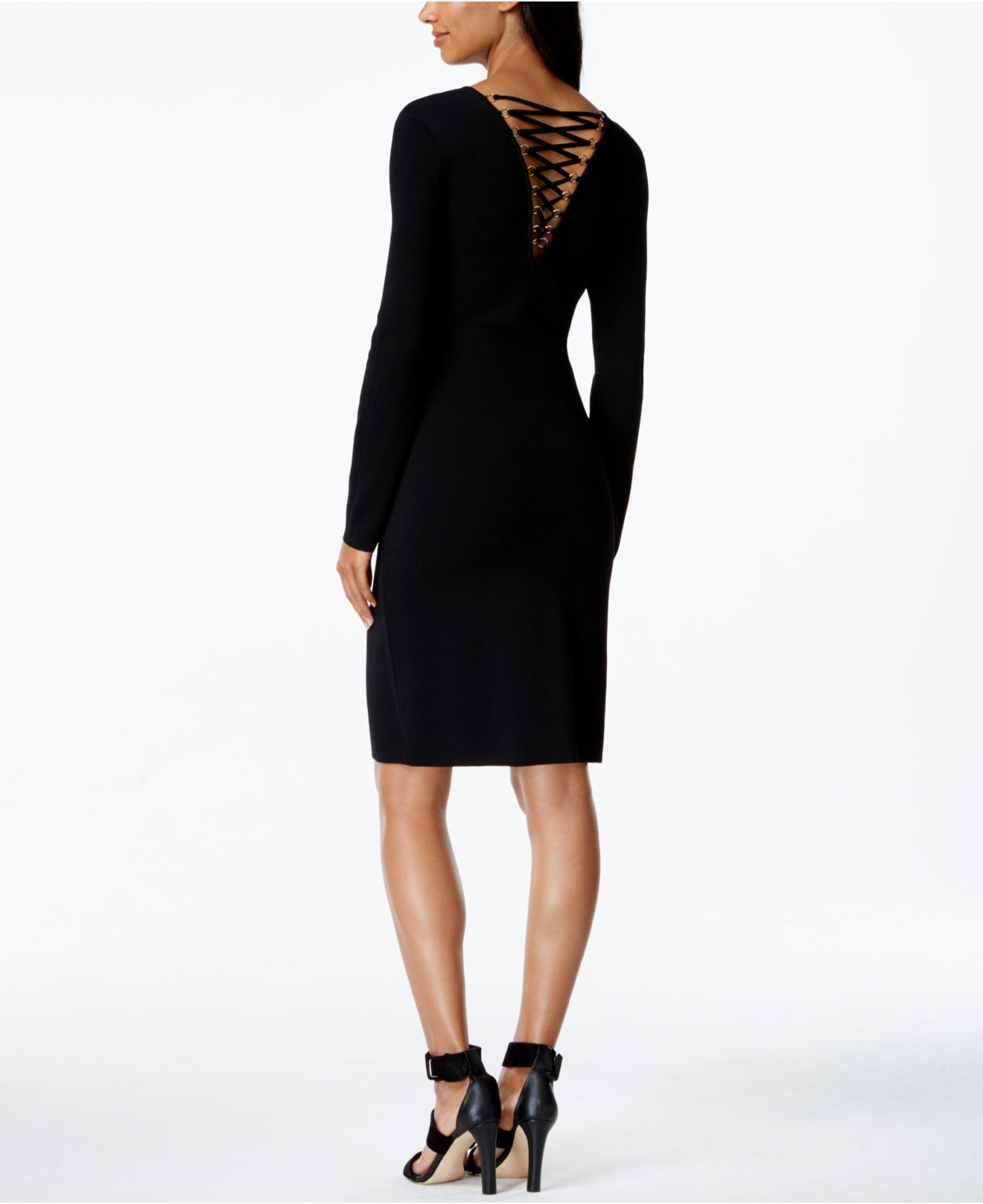 Lace up sheath dress