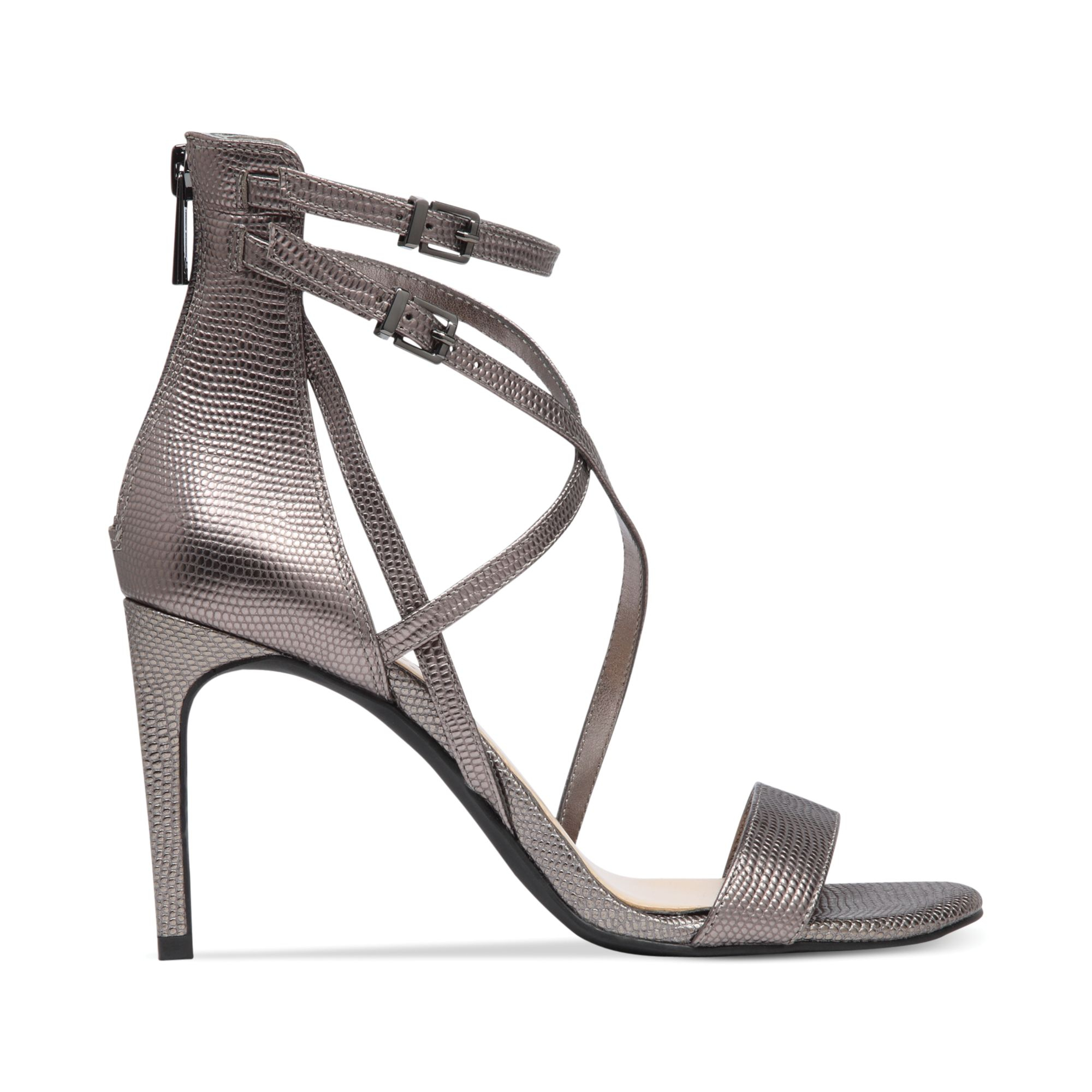 Jessica Simpson Myelle Strappy Sandals In Gray Lyst