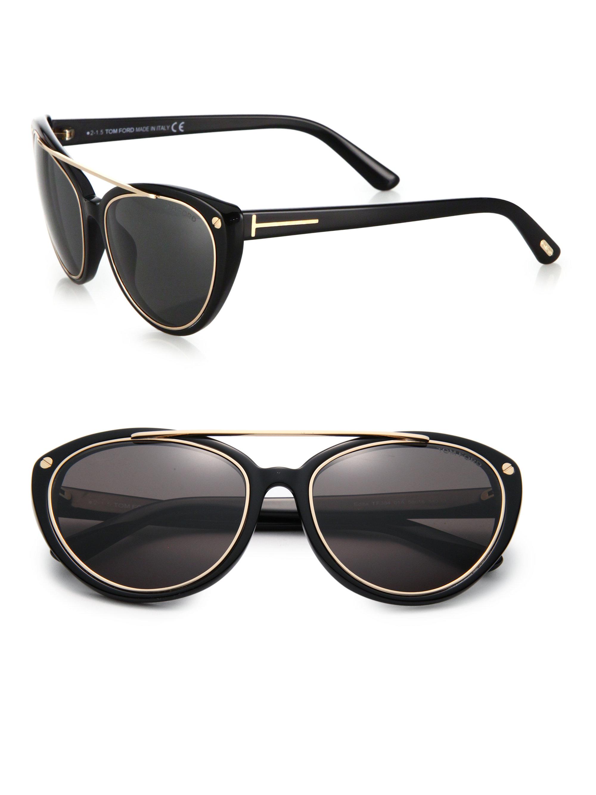 Tom Ford Gold Cat Eye Sunglasses