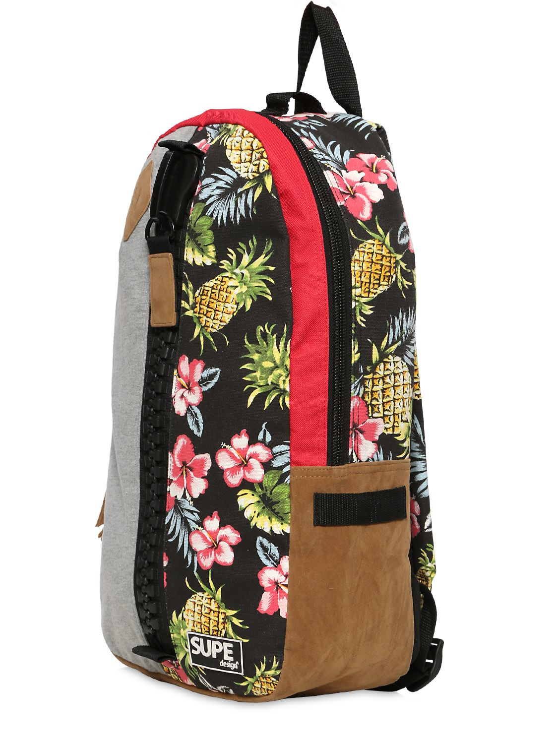 2421a9e2fd Lyst - Supe Design Day Floral Print Techno Canvas Backpack in Gray for Men