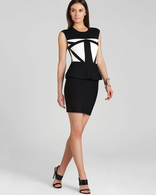 Lyst Bcbgmaxazria Bcbg Max Azria Dress Caprice Geometric