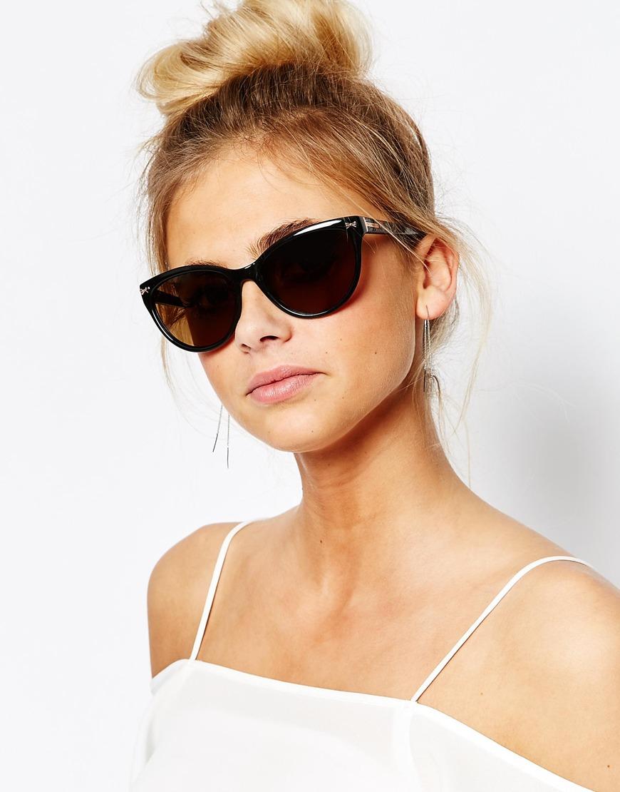 509f62850dd6a9 Lyst - Ted Baker Rhea Cat Eye Sunglasses in Black
