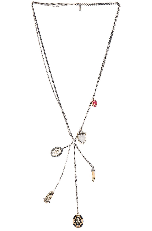 Alexander McQueen charm necklace - Metallic AVark3q