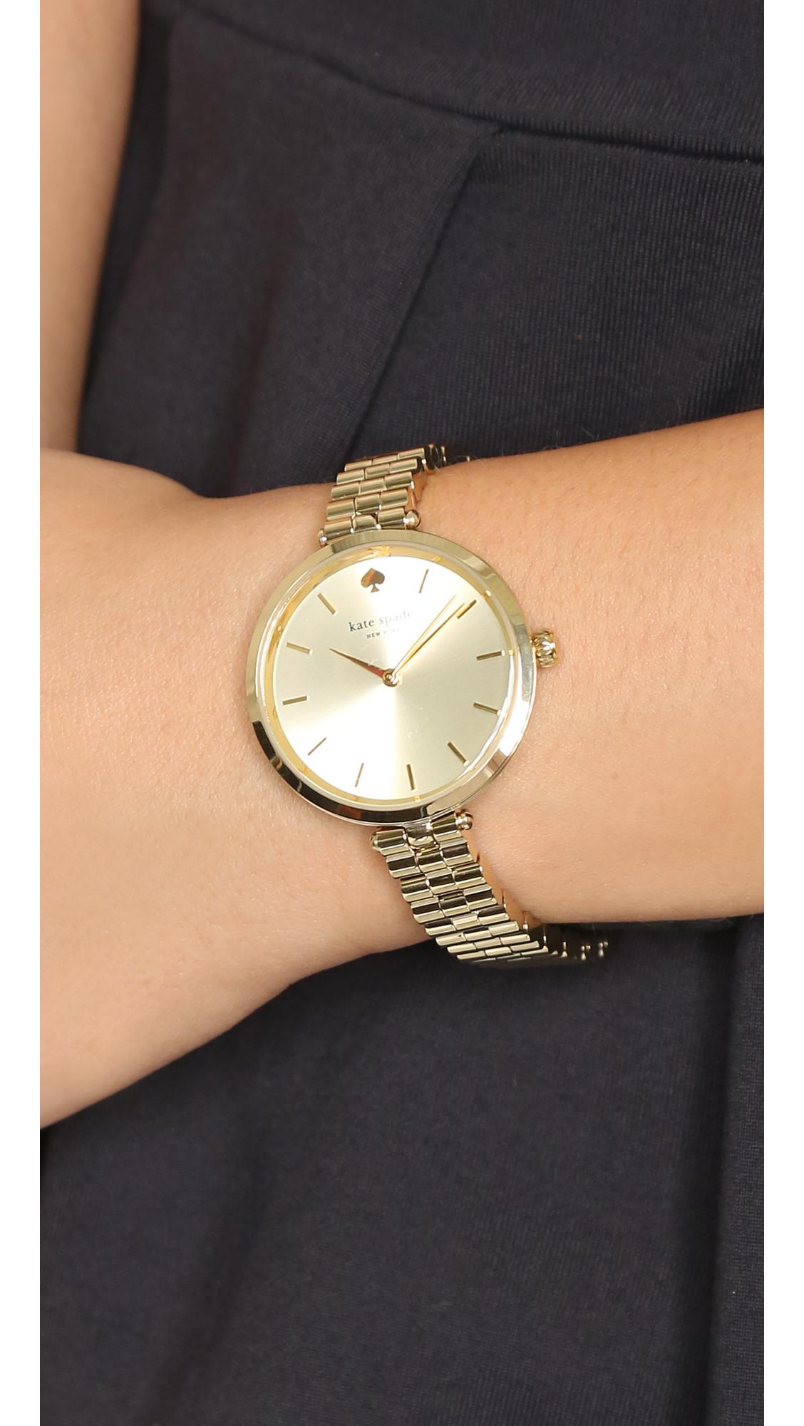 a0669e4d823 Lyst - Kate Spade Holland Skinny Watch in Metallic