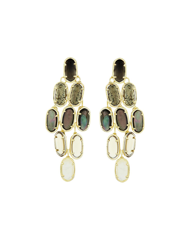 Lyst kendra scott 14k embry chandelier earrings in black gallery arubaitofo Images