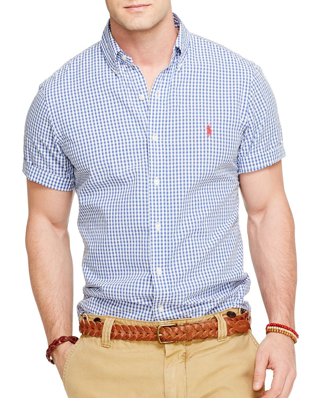 6570d9aafdc4 Ralph Lauren Polo Short Sleeved Checked Seersucker Button Down Shirt ...