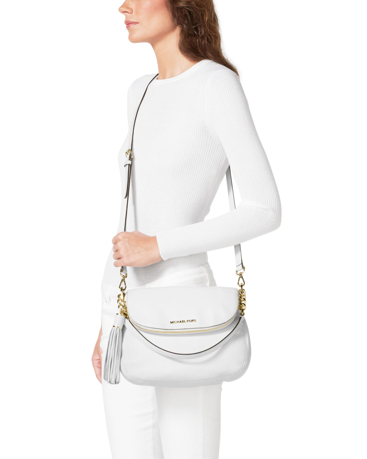 9066451a357cf0 ... greece lyst michael michael kors medium bedford tassle convertible  4c403 6e773