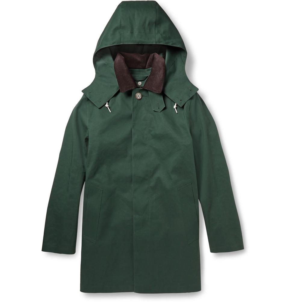 Mackintosh Dunoon Handmade Bonded-Cotton Hooded Rain Coat ...