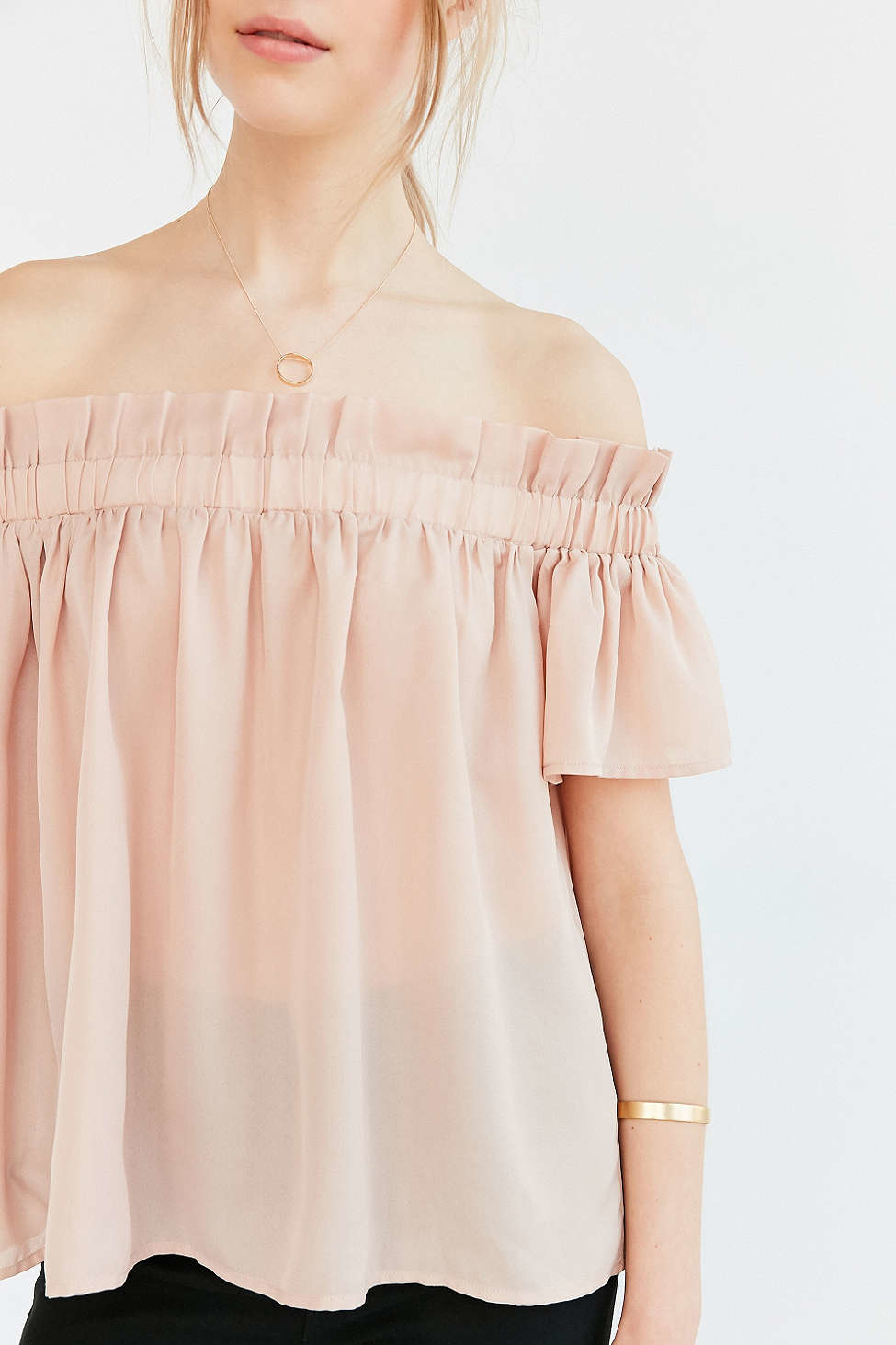 Off The Shoulder Ruffle Blouse 52