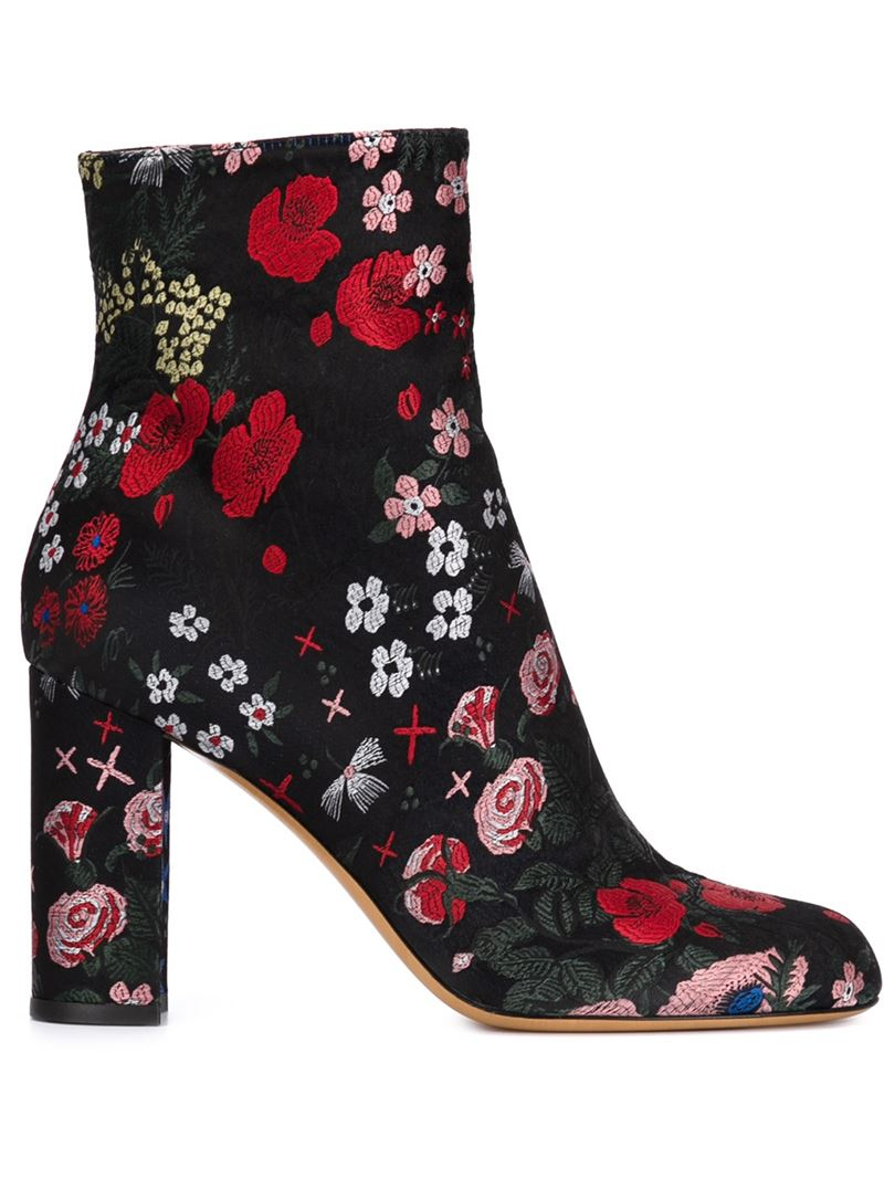 valentino camugarden boots in black lyst