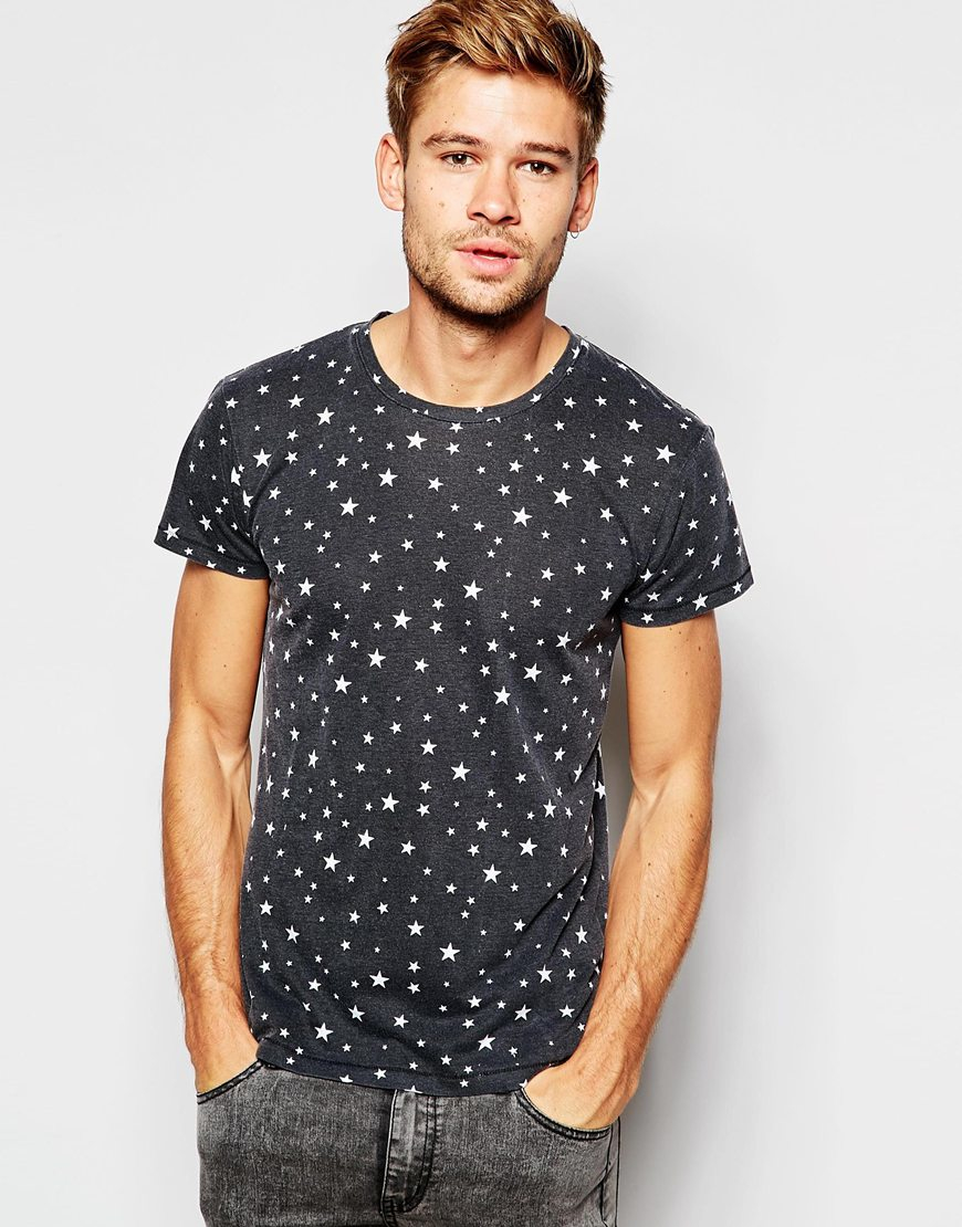 Lyst Esprit Burnout T Shirt With All Over Stars Print In