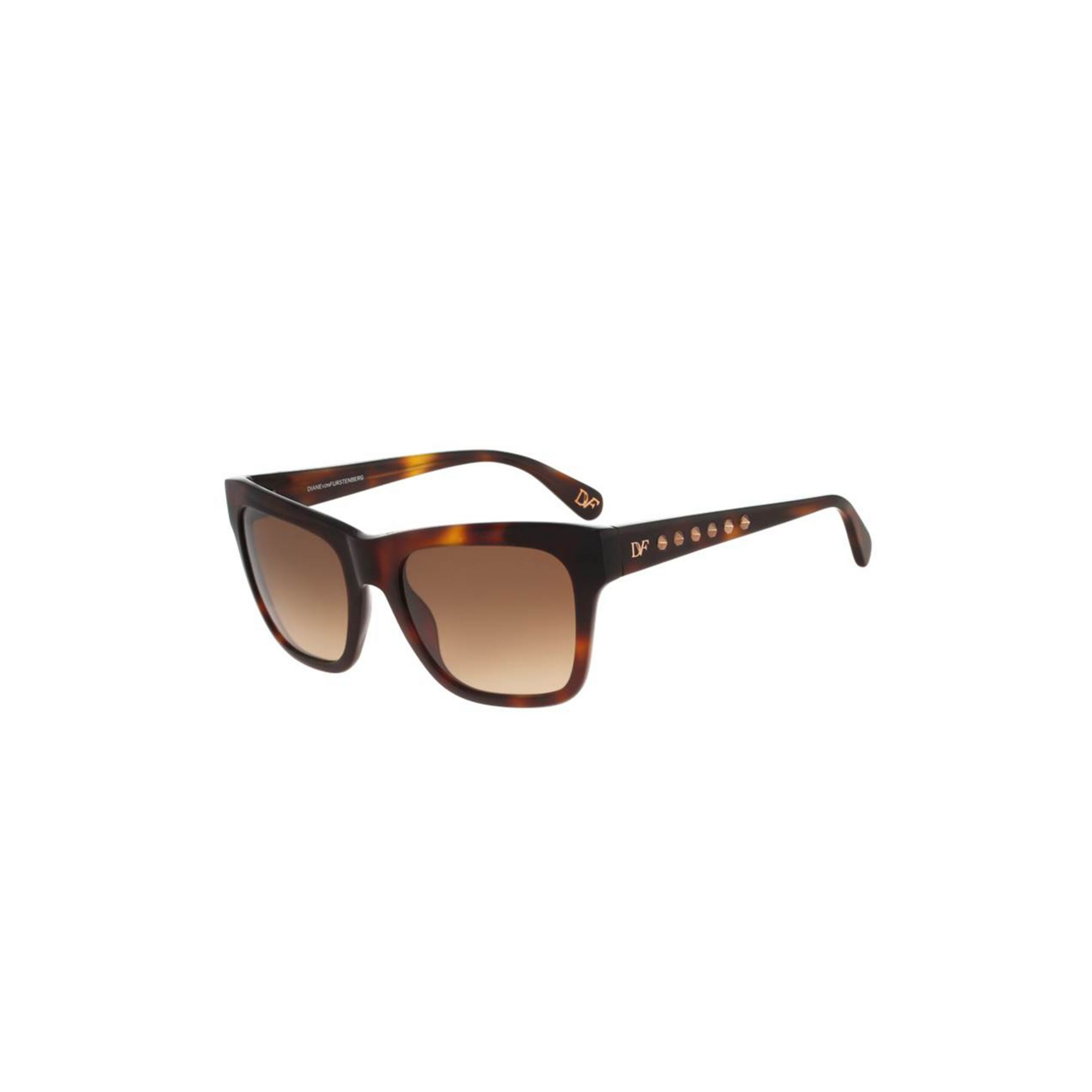 a71fb02421ae8 Diane von Furstenberg Leah Studded Sunglasses in Brown - Lyst