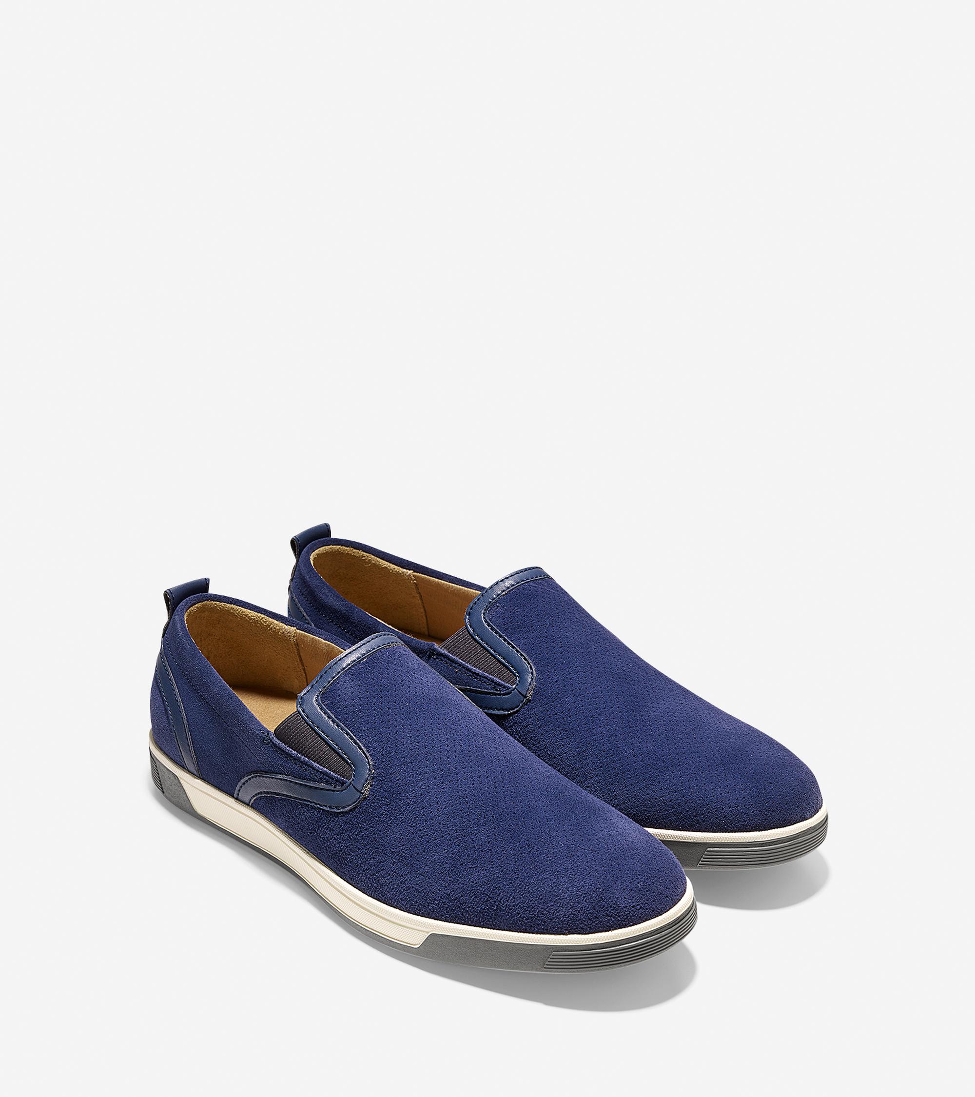 Cole Haan Quincy Slip On In Blue For Men Blazer Blue
