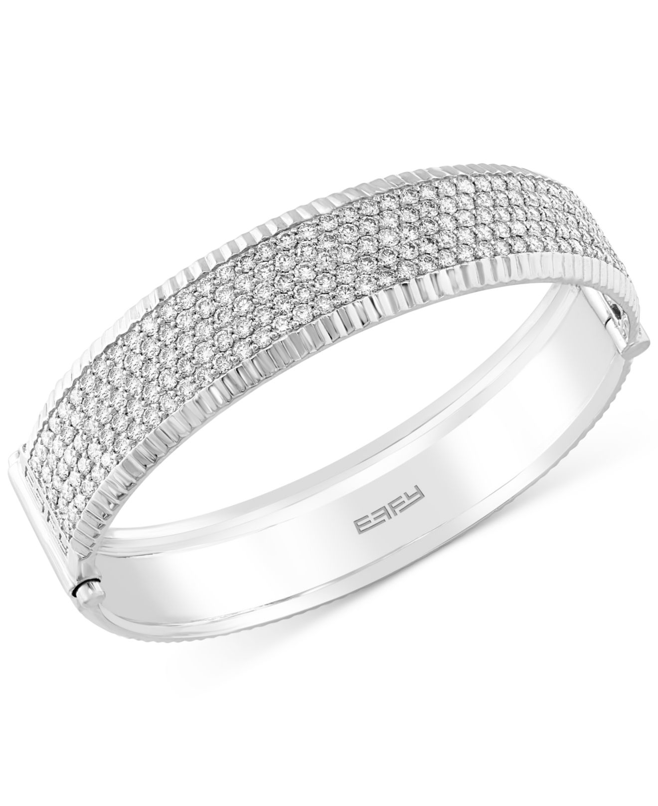 coin bangle diamond jewelers single bracelet product square rose d roberto white pave gold amore products bangles
