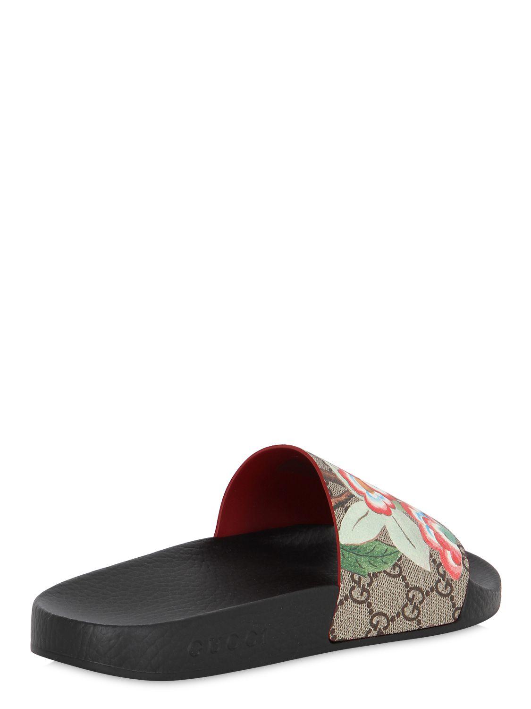 Lyst Gucci 20mm Pursuit Gg Supreme Slide Sandals