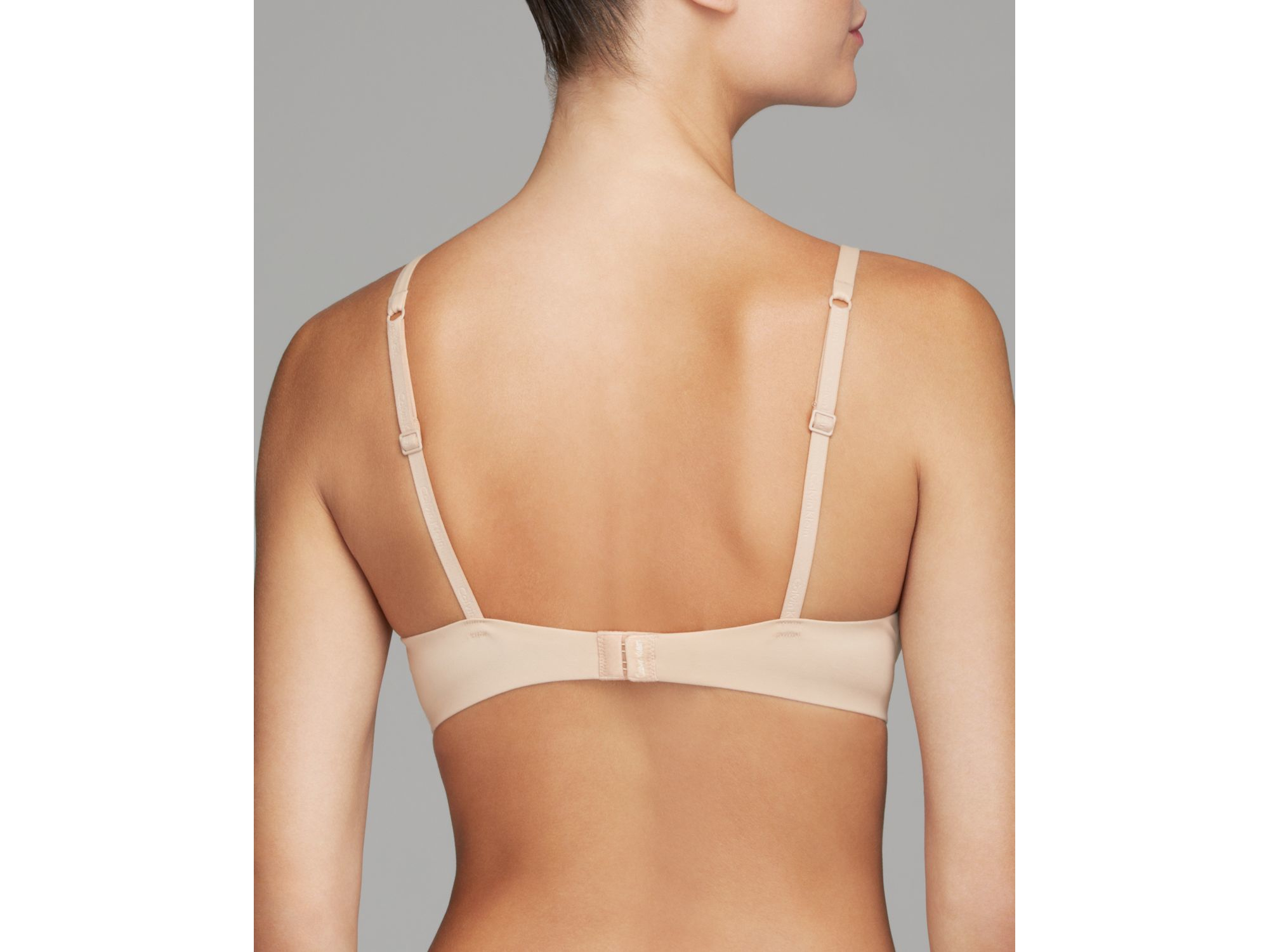 feb1ff7a49 Calvin Klein Bra - Perfectly Fit Bare Underwire  f3840 in Pink - Lyst