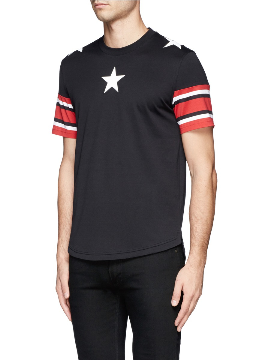 Lyst - Givenchy Star Stripe Print T-shirt in Red for Men 73f7e9416dd1