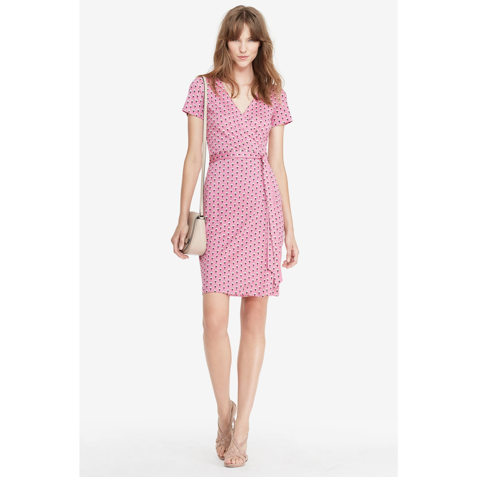 Diane von furstenberg Julian Two Short Sleeve Silk-Jersey Wrap ...