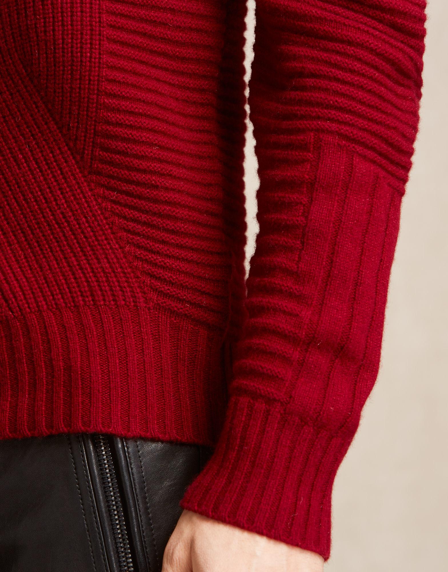 64ab45452c9b Lyst - Belstaff Lincefield Jumper In Dark Red Cashmere Blend in Red ...